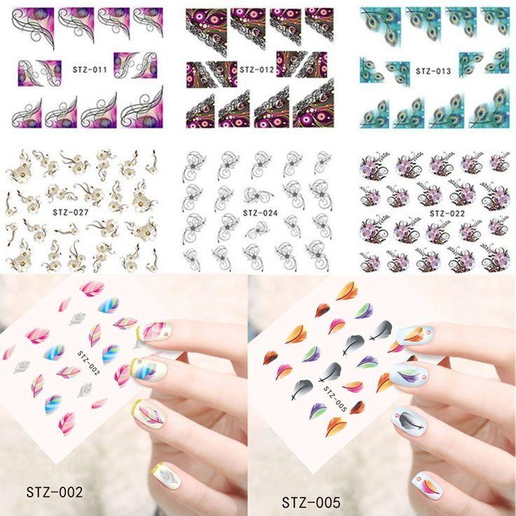 1 st Top Koop Nail Art Decals Beauty 31 Ontwerpen Cartoon/Kant/Bloem Afbeelding Wraps van Nail Water Transfer Sticker SASTZ001-031