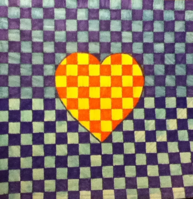 Heart square in squares :)