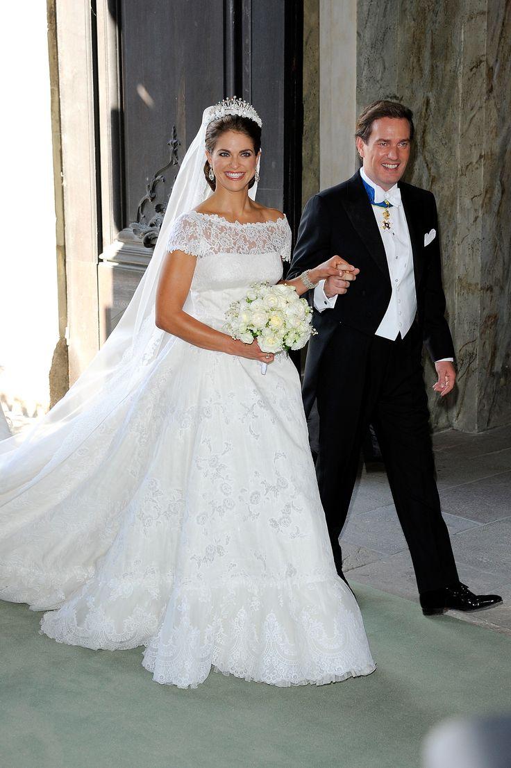 Prinzessin Madeleine von Schweden an ihrem Hochzeitstag in einem Kleid von Valentino