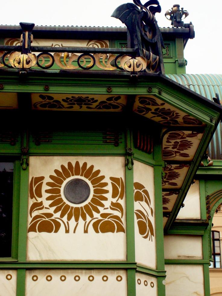 Subway Pavilion, Karlsplatz, Designed by Otto Wagner in 1898.