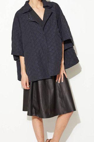 Jacquard Coat by Hache   shopheist.com