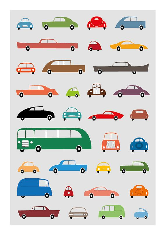 car poster car print nursery decor vintage car by TomasDesign