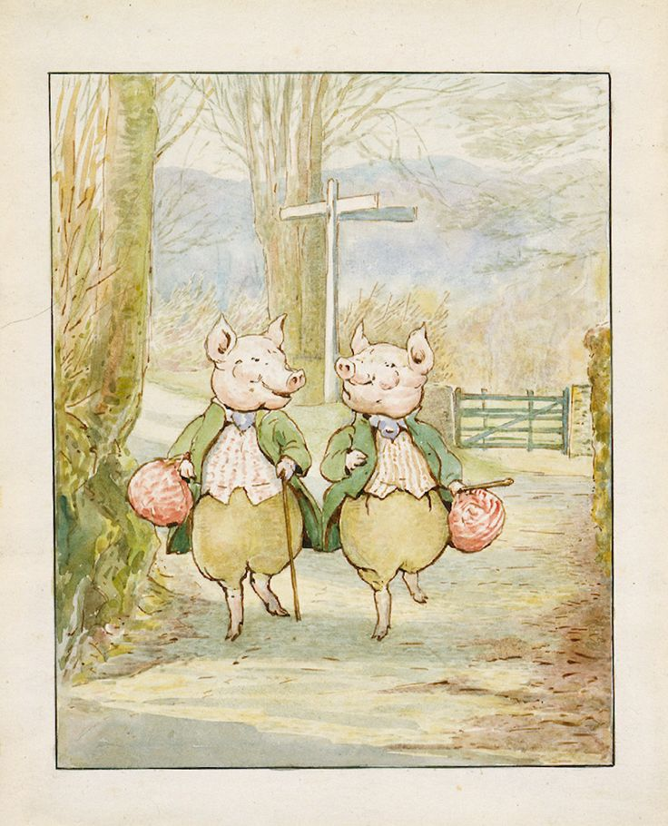 Image detail for -Beatrix Potter, 'Pigling Bland and Alexander at the crossroads', 1913 ...