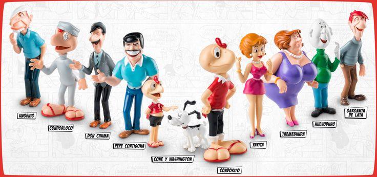 Condorito y sus amigos en #ColeccionesElTiempo