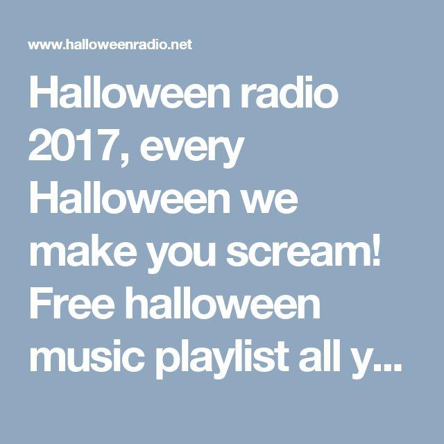 Best Dinner Party Playlist Part - 39: Free Halloween Music Playlist All Year Round. Official Haunted Horror  Halloween Radio 2017. Kids, Movie, Atmosphere, Main, Oldies.
