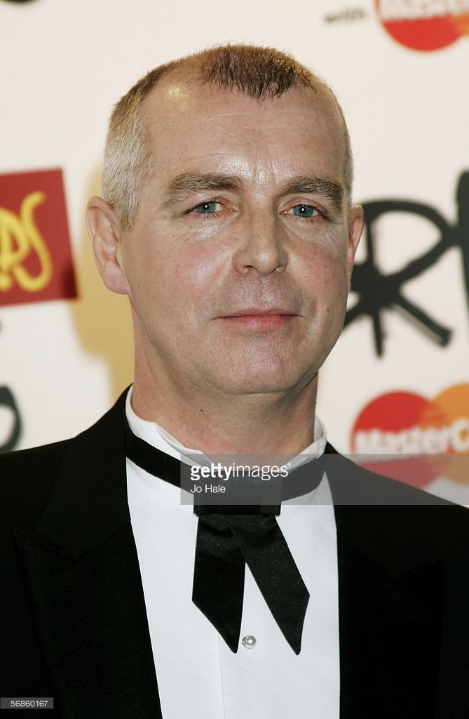 Neil Tennant of the Pet Shop Boys poses in the Awards Room at The Brit Awards 2006 with MasterCard at Earls Court 1 on February 15, 2006 in London, England. The 26th annual music awards highlight the achievements of the UK record industry with all proceeds donated to the British Record Industry Trust (BRIT).