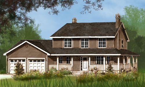 Very Simple 2 Story Farmhouse 1865 Ft Floor Plans Pinterest House Plans Country Houses