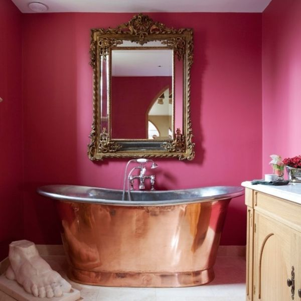 17 meilleures id es propos de baignoire rose sur pinterest salles de bains roses for Peinture baignoire resinence