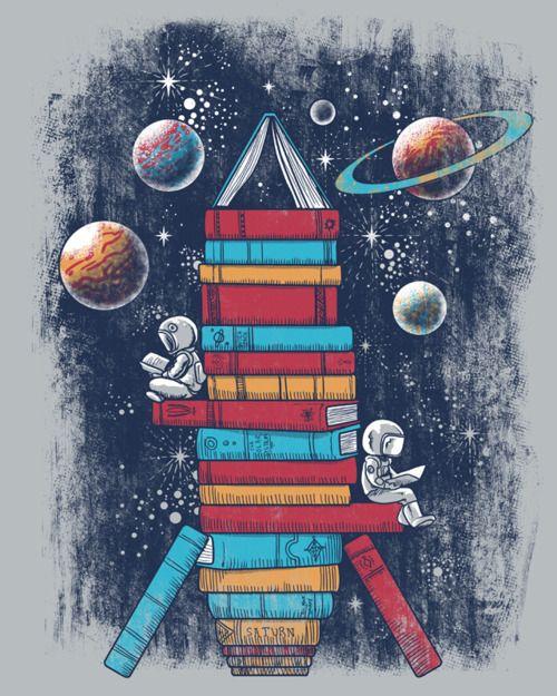 embracebooks:    (via Reading Rocket Ship by ~qetza on deviantART)