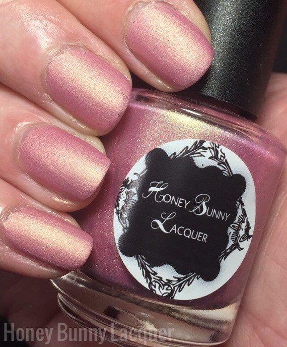 Crystal Rose – matte nail polish – rose – 5 free – handmade – indie nail polish …