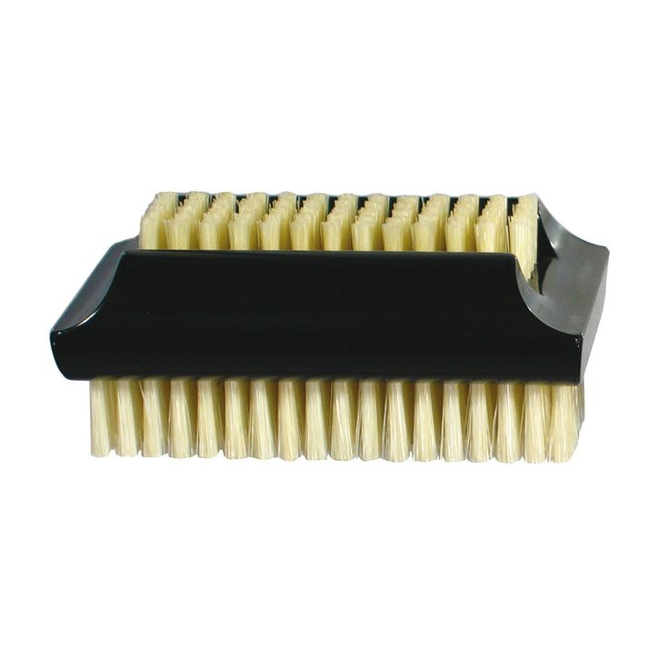Koh-I-Noor Dual-Sided Nail Brush with Natural White Bristles - Made in Italy