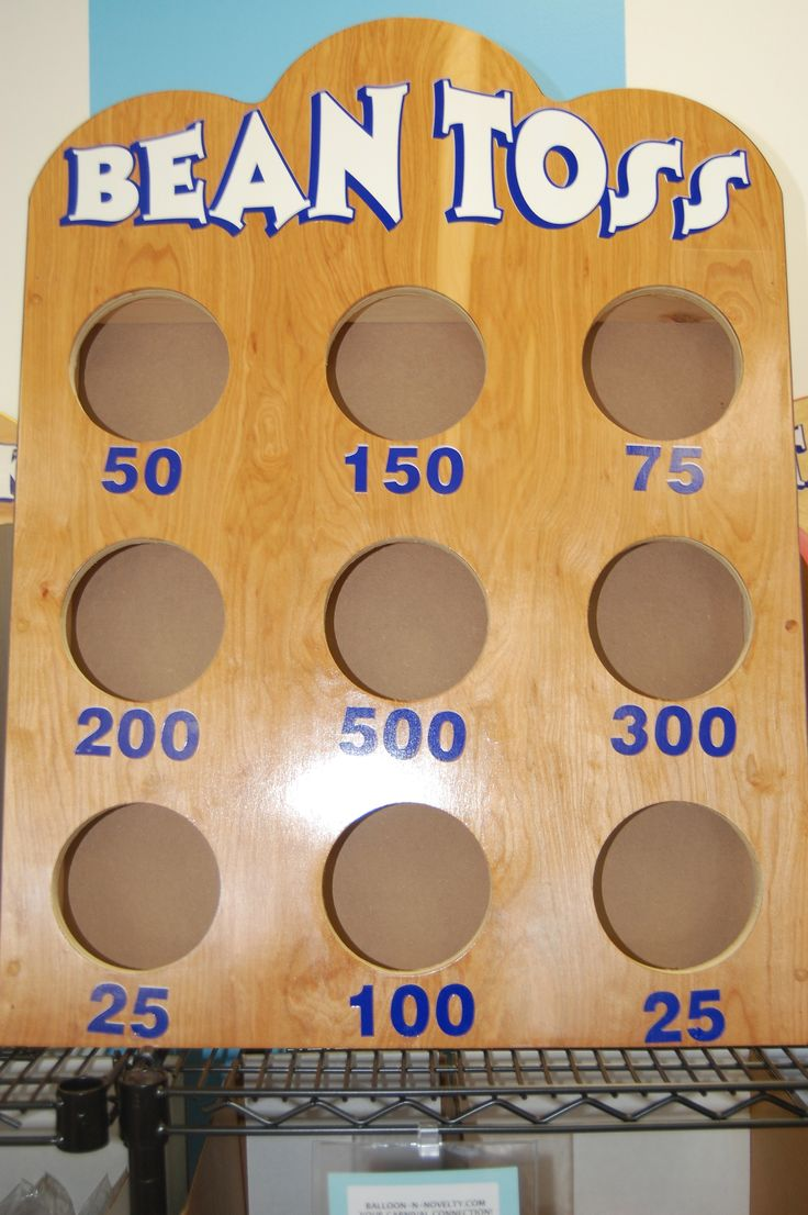 Bean Toss Game - $25.00 rental High score wins! Comes with 3 bean bags. Children's party ideas, carnival ideas, school fundraising ideas, game ideas, carnival games, kid games, carnival birthday, fall festival, summer fun activities