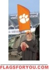 "Clemson Tigers Tailgate Flag 42"" x 20"""