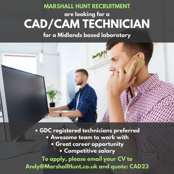 **CADCAM/Gold Technician Required**  • Cutting-edge lab in the Midlands. • Competitive salary. • CADCAM training given for the right candidate Email andy@marshallhunt.co.uk for more details. Applications are strictly confidential
