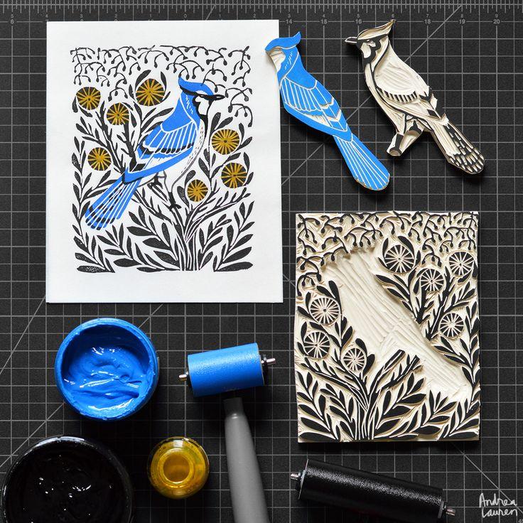 http://www.andrealaurendesign.com/printmaking