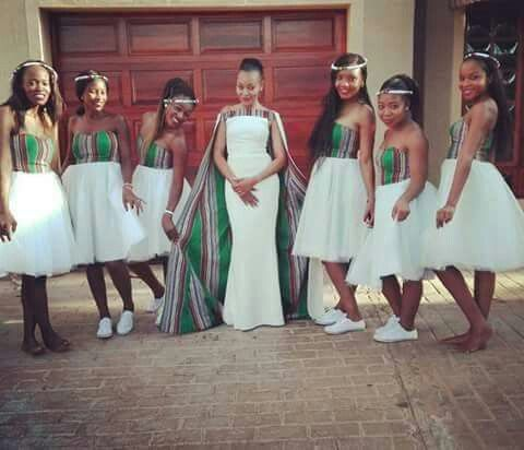 South African Venda wedding. Liking the brides dress