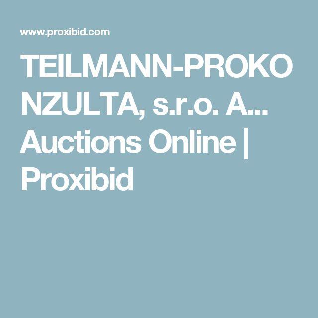 TEILMANN-PROKONZULTA, s.r.o. A... Auctions Online | Proxibid