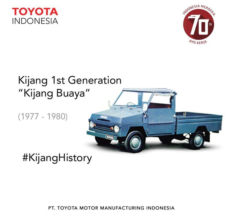 """Generasi pertama dari Toyota Kijang menggabungkan konsep mobil bak dengan bentuk kotak. Model ini dikenal dengan """"Kijang Buaya"""" karena model kap mobil yang terbuka seperti mulut buaya. #InfoTMIIN #KijangHistory This 1st generation of Toyota Kijang merged pickup concept with basic square shape. This model is also known as """"Kijang Buaya"""" because its car bonnet can be opened sidewards. #InfoTMMIN #KijangHistory"""