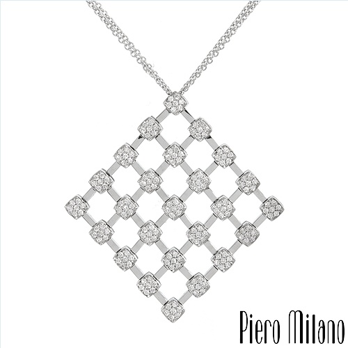 $1,419.00  Piero Milano! Made in Italy Luxurious Necklace with 0.88ctw Super Clean G/VS Diamonds Made of 18K Gold