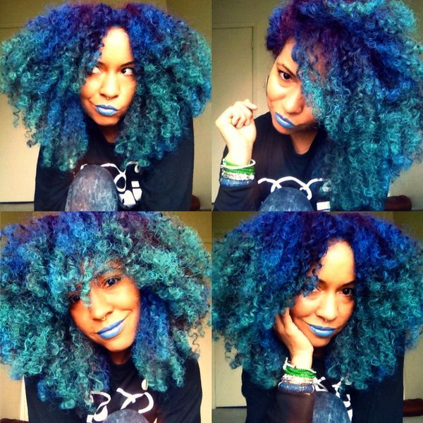colored natural hair ideas