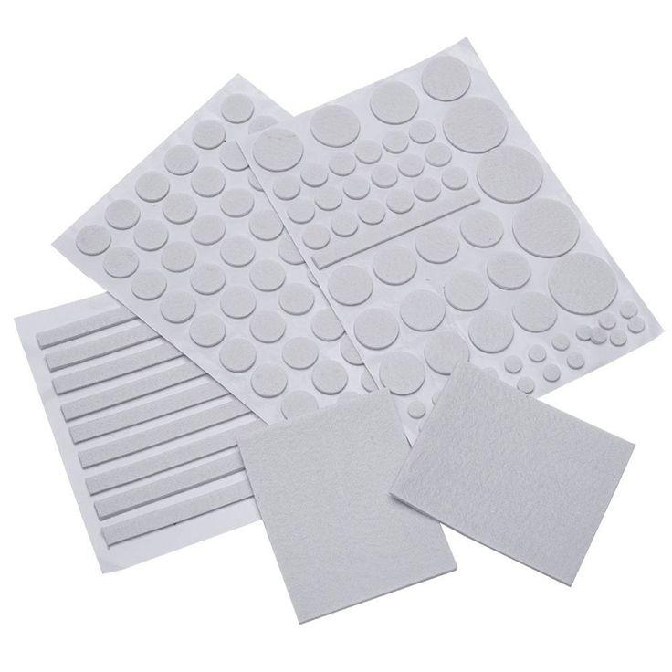 132/Sets Furniture Floor Protector Self Adhesive Felt Furniture Table Legs Floor Protectors Pad Cushion Gray Foot