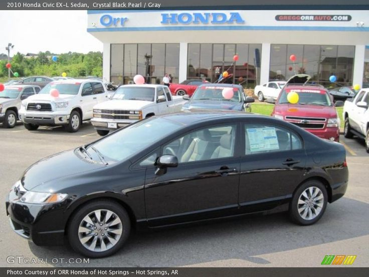 Crystal Black Pearl / Gray 2010 Honda Civic EX-L Sedan