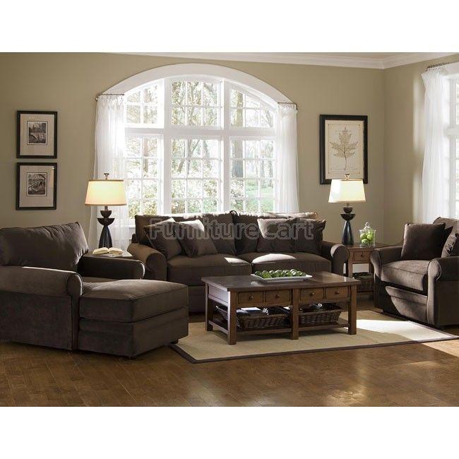 Comfy Living Room Set (Belsire Chocolate)