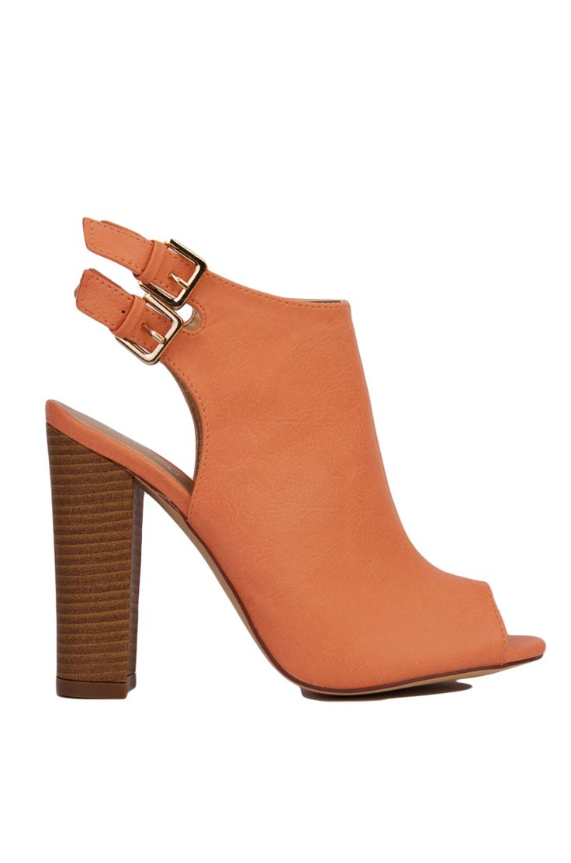 Coral Chunky Heels