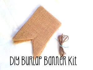 Image of DIY Burlap Banner Kit - Flag Style