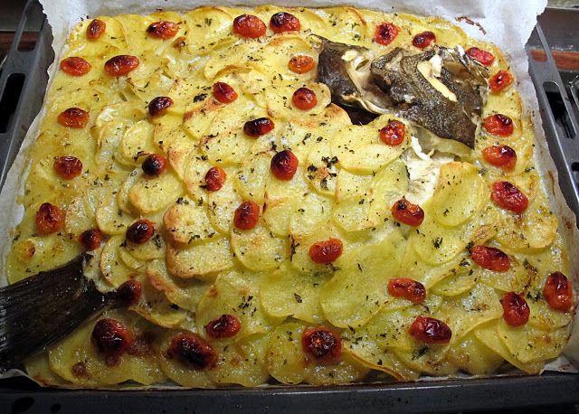 Tentazioni di gusto: Rombo al forno in manto di patate e pomodorini