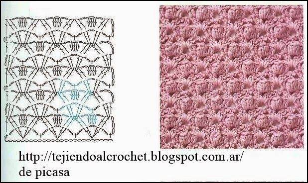 PATRONES - CROCHET - GANCHILLO - GRAFICOS: DIAGRAMAS, PATRONES, GRAFICOS, TODO PARA TEJER A CROCHET,GANCHILLO