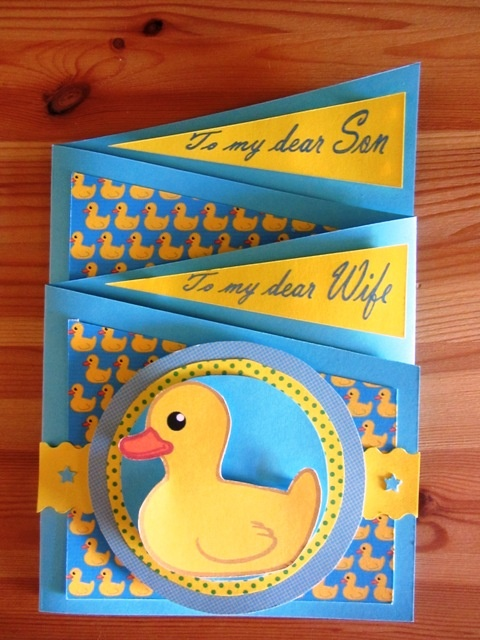 concertina baby shower card