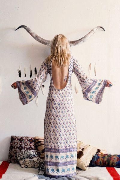 spell, gypsy, bohemian, royale, empress, dress, dusk, maxi, floral, flowy, splits, exotic, kimono-style, long-sleeve, pastel, vintage