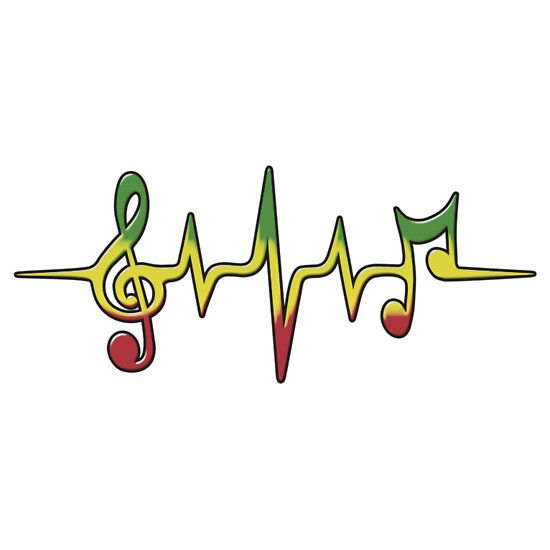 Music Pulse, Reggae, Sound Wave, Rastafari, Jah, Jamaica, Rasta by boom-art