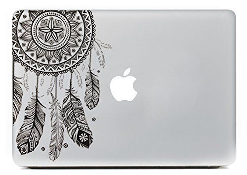 "Vati Feuilles amovible Dream Catcher Meilleur vinyle autocollant Decal peau Black Art Parfait pour Apple MacBook Pro Air Mac 11 ""pouces / Unibody 11 pouces pour ordinateur portable: Amazon.fr: Informatique"