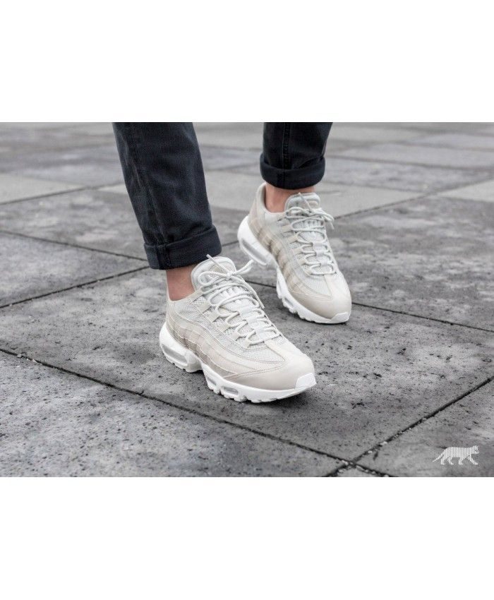 2537c4008e Nike Air Max 95 Essential Pale Grey Pale Grey Summit White Trainer ...