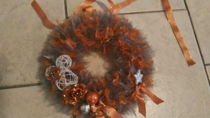 vánoční věneček oranžový