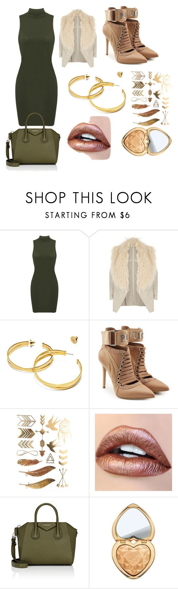 """DE MODA"" by marguerite-dillworth on Polyvore featuring River Island, Tory Burch, Puma, Givenchy and Too Faced Cosmetics"