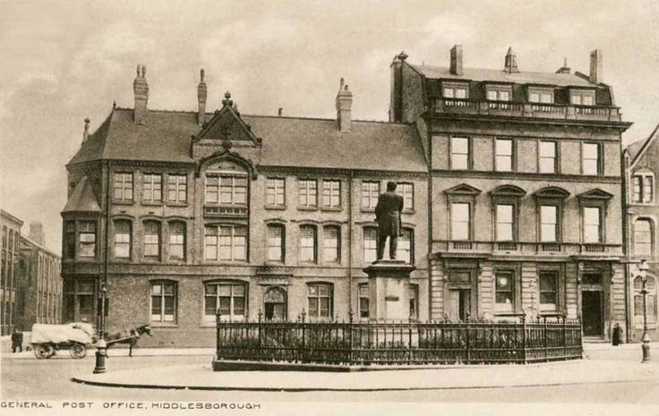 Yorkshire, Middlesbrough General Post Office c1919.jpg (970×614)