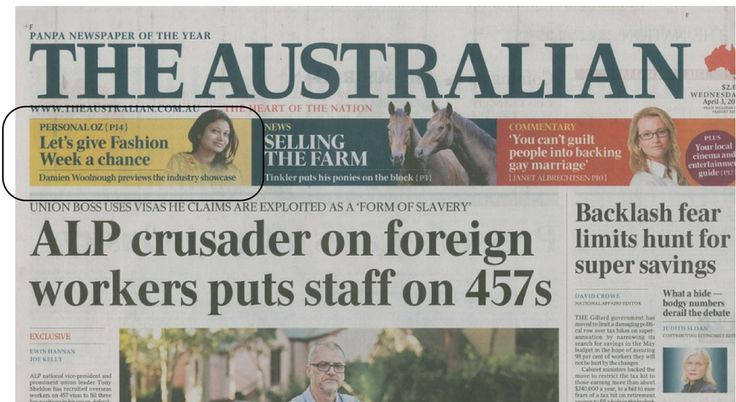 The Australian, April 2013