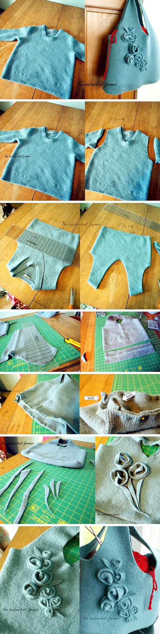 Sweater Tote, i am so doing this...