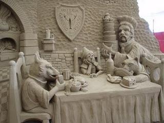 Pinnocchio in sand sculpture, Jesolo, Italy