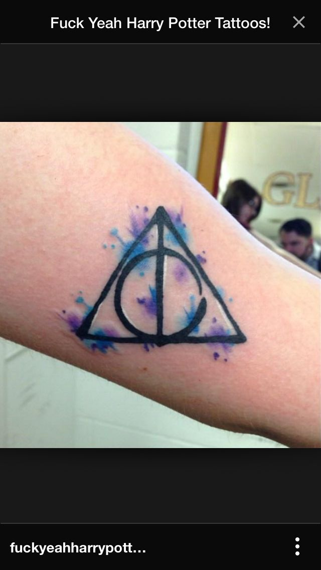 Deathly hallow water color. Harry Potter Tattoo