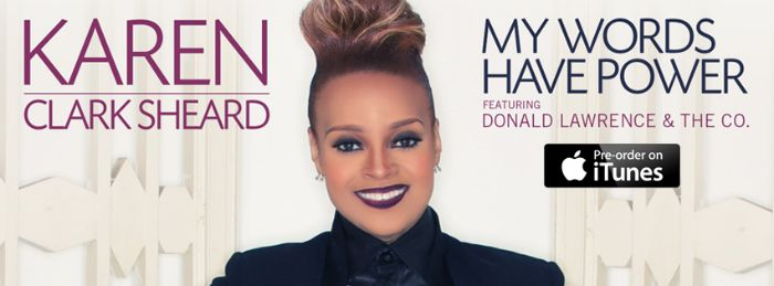 "Karen Clark-Sheard releases new single #MyWordsHavePower to Gospel Radio | @officialkcs. Karen Clark-Sheard of the legendary Clark Sisters, releases to radio the next single from her forthcoming full project ""Destined To Win"" set for release later this year! The song entitled ""My Words Have Power"" is written by Rick Robinson, produced by Donald Lawrence and backed by Donald Lawrence & Co."