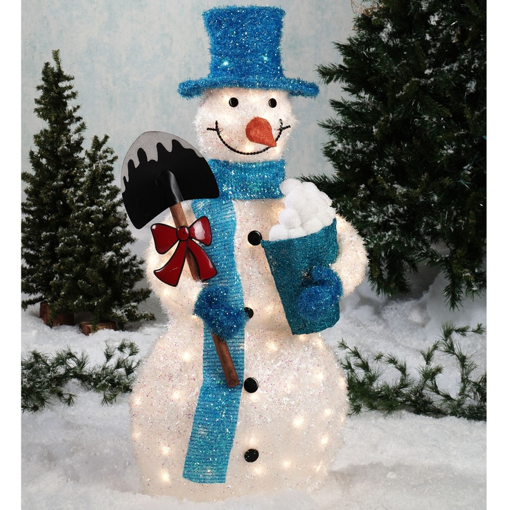 17 Best images about Christmas lights on Pinterest | Yard art ...:Tinsel Snowman Outdoor Sculpture - Touch of Class - 139.99 Tinsel Snowman  Outdoor Sculpture 70 lights,Lighting