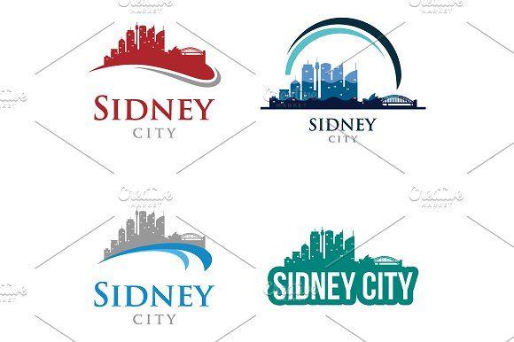 4 - Sidney Skyline Landscape Logo  @creativework247