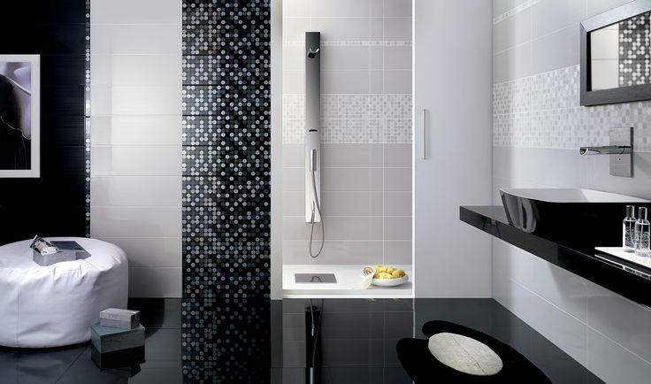 Oltre 20 migliori idee su bagni in piastrelle bianche su - Piastrelle bagno nere ...