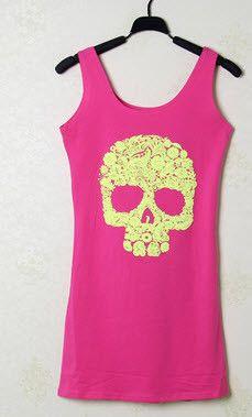 Pastel Skull Sexy Summer Dress - Rebel Style Shop - 4