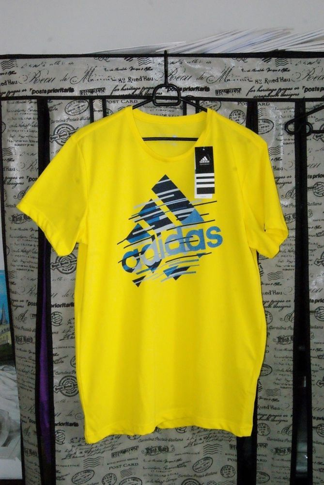Adidas T-Shirt Sport Men Brand Product Size M Cotton Big Discounted Price  | eBay