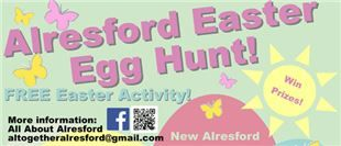 New Alresford town centre is getting ready to host a free Easter egg hunt involving two of the things that children love most – stickers and chocolate!